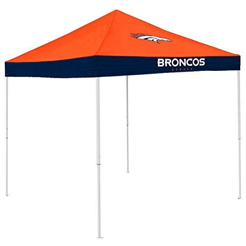 Logo Brands NFL Denver Broncos Economy Tent Economy Tent, Carrot, One Size