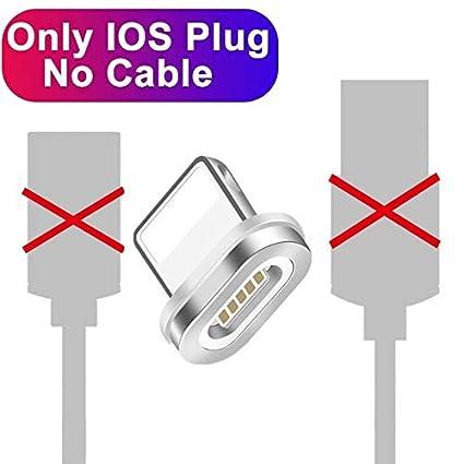 TOUSHI Cable Cargador 1M 2M Cable USB magnético 90 Grados 3A ...