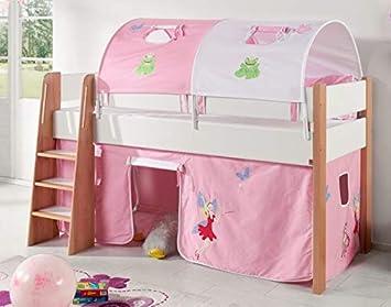 Froschkonig24 Hochbett Sam 3 Kinderbett Spielbett Halbhohes Bett