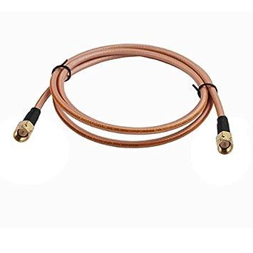 10 pies RF Coaxial Cable Asamblea Cable eléctrico Conector macho SMA recto a conector macho SMA conector para RG400 Cable Pigtail: Amazon.es: Electrónica