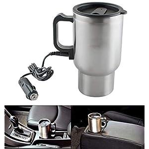 Oblivion 12V Car Charging Electric Kettle Mug (Silver)