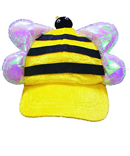Yellow Bee Plush Cap With Bill