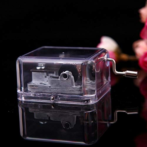 (Music Box - 18 Notes Movement Acrylic Windup Set Musical Box 6 Melody Music Decor - Kits Wars Nutcracker Tool Make Speaker World Little Religious Happy Star Robot Machine Locket Girl Your)