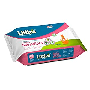 Little's Soft Cleansing Baby Wipes with Aloe Vera, Jojoba Oil and Vitamin E (80 wipes) pack of 3 & Little's Soft…