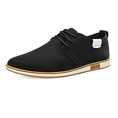 2018 Mens New Arrival Shoes, Men's Business Oxford Casual Breathable Round Head British Style Formal Shoes (Color : Black, Size : 6 UK)