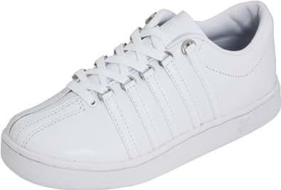K-Swiss Women's The Classic Sneaker,White/White,5 M US