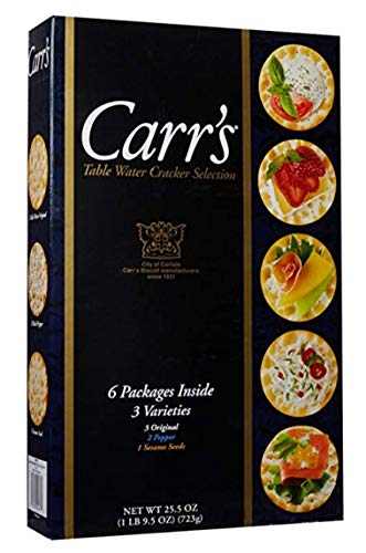 Carr's Table Water Cracker Selection, 6 Packages of 3 Varieties Inside, 1lb 9.5 oz. Box (2 Boxes) by Carr's (Image #1)