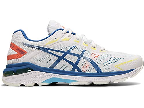 ASICS Women's GT-2000 7 Running Shoes, 6M, White/Lake Drive