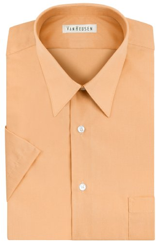 Van Heusen Short Sleeve Poplin Solid Dress Shirt - White