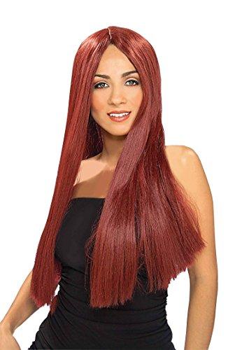 Forum Novelties Women's Extra Long Straight Wig, Burgundy, One Size ()