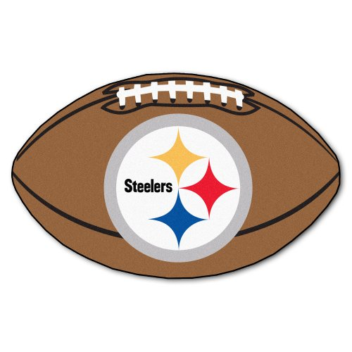 FANMATS NFL Pittsburgh Steelers Nylon Face Football Rug