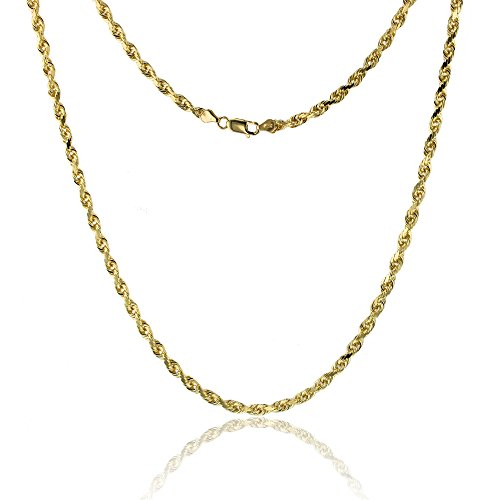 Yellow Gold Solid Dc Rope - 6