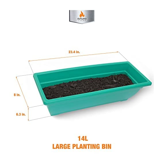 """4-Ft Raised Garden Bed - Vertical Garden Freestanding Elevated Planters 5 Container Boxes - Good Patio Balcony Indoor Outdoor - Cascading Water Drainage to Grow Vegetables Herbs Flowers 4 ✓ EASY TO ASSEMBLE w/ CASCADING DRAINAGE SYSTEM - with easy to follow instructions included, assembly of your vertical garden will be quick and simple. The drainage system lets water flow from the top down to each succeeding row to ensure all plants are adequately watered and no stagnant water remains. ✓ PERFECT TIGHT SPACE SOLUTION - Each hanging plastic box container is 24"""". Provides adequate room for your plants without wasting any precious space in a small apartment, patio, balcony, yard, deck, front porch or any outside area. Grow a variety of herbs, seeds, flowers, succulents or vegetables in just a single area at home. ✓ MODERN ERGONOMICALLY DESIGNED & AESTHETICALLY PLEASING - if you are unable to enjoy gardening due to hip and back issues, this is the product you are looking for. Farmhouse has never been this easy; especially for seniors . Add a unique beauty and style unlike any other to your deck, patio or yard!"""
