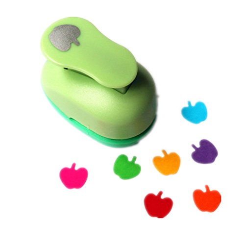 Scrapbooking Apple Paper - ODETOJOY Handheld Scrapbooking Punch Cutters Clearance Engraving Album Cards Paper Crafts Puncher Hole Punches Supplies with Shape (Apple)