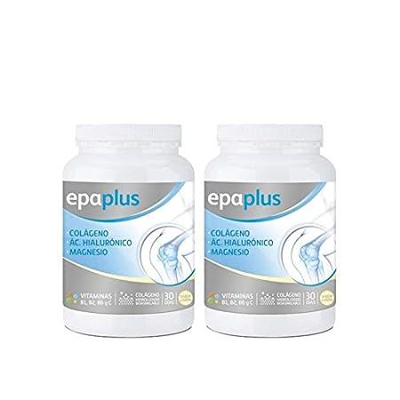 Epaplus Colágeno + Ácido Hialurónico y Magnesio Polvo Vainilla - Paquete de 2 x 332 gr - Total: 664 gr: Amazon.es: Salud y cuidado personal