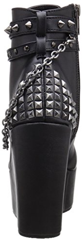 Demonia Vegan Leather Donna Poison Blk Stivaletti 101 Black r7rqO