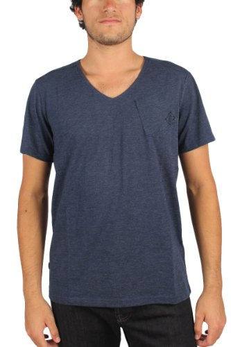 Round Sapphire Des Raw En G Jisoe Hommes Saphir Guzy star T shirt Jersey Bleu neck Blue qS1T6a1w