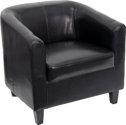 Offex Home Office Seating Black Leather Lounge Chair OF-BT-873-BK-GG