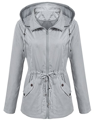 ANGVNS Women's Waterproof Lightweight Rain Jacket Anorak with Detachable Hood by ANGVNS (Image #6)