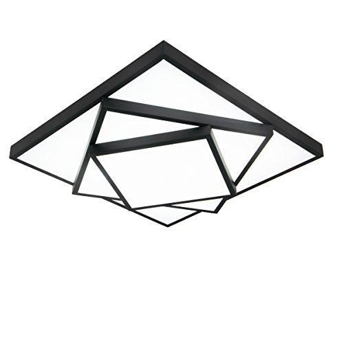 Art Glass Ceiling Light - Electro_bp Modern Simple Metal Art Ceiling Light Geometric LED Flush Mount Light Max 36w with LED Lights(25x25 inch) Painted Finish