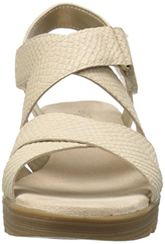 Aerosoles Womens Bogota Synthetic Wedge Sandal Bone BQqkuX