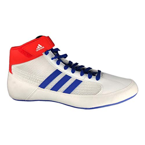 (adidas Havoc Mens Adult Wrestling Trainer Shoe Boot White/Blue/Red - UK 9)