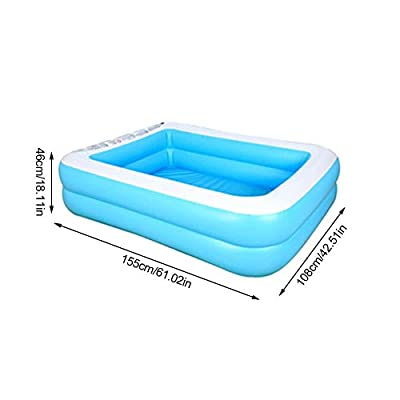etateta Inflatable Swimming Pools, Inflatable Kiddie Pools, Family Swimming Pool, Swim Center for Kids, Adults, Babies, Toddlers, Outdoor, Garden, Backyard,61.02X42.52X18.11in: Home & Kitchen