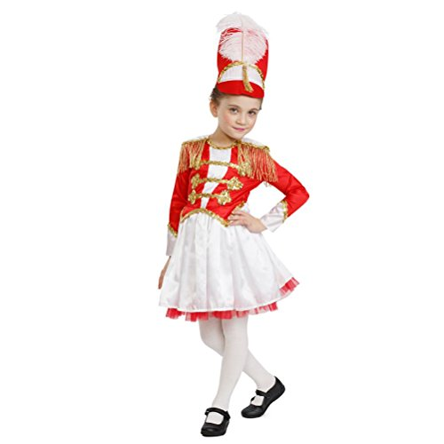 Girls Fancy Drum Majorette Costume Marching Band (Marching Band Halloween Costume)