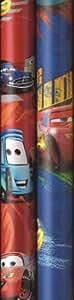 Zöwie Disney Cars - Papel de regalo, 2 x 70 cm, 3 unidades