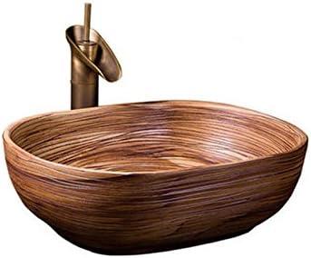 カウンター盆地洗面オーバルセラミック盆地アメリカの洗面アートヨーロッパの盆地上記 P3/19 (Size : B)