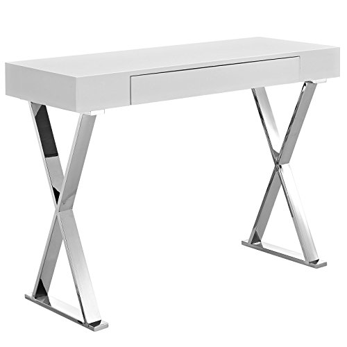 Modway Sector Console Table, White (Console Table Furniture)
