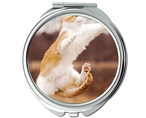 Mirror,makeup mirror,Animal cat mirror for Men/Women,1 X 2X -