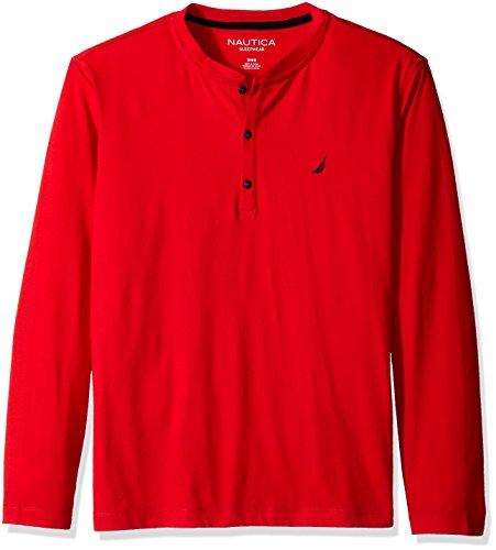 Nautica Mens Long Sleeve Henley Shirt