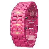 Toponly New Iron Samurai Metal Bracelet Watch LED Digital Watches Hour Men Women Smart Watches
