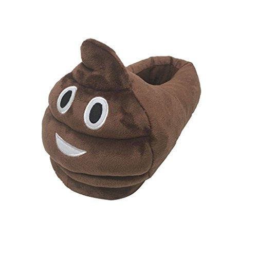 Spiritup Unisex Cacca Emoji House Pantofole Peluche Diavolo Adulti Scarpe Cacca