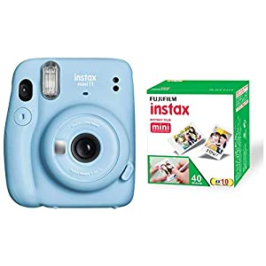 RetinaPix Fujifilm Instax Mini 11 Instant Camera - Sky Blue with 40 Shots Film Pack