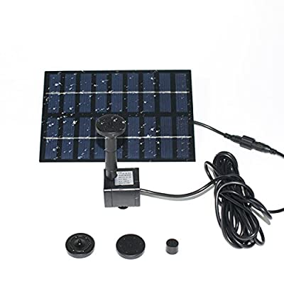 MADETEC Solar Birdbath Fountain Pump, Solar Outdoor Water Fountain Panel Kit for Bird Bath,Small Pond,Garden and Lawn