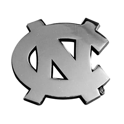 FANMATS  14902  NCAA UNC University of North Carolina - Chapel Hill Tar Heels Chrome Team Emblem: Automotive