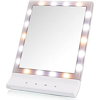 led lighted makeup mirror deweisn lighted vanity makeup mirror smart touch cosmetic mirror with