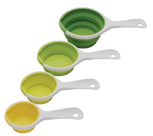 Chef'n SleekStor Pinch+Pour Collapsible Measuring Cups (Green - Collapsible Chefn