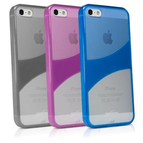 BoxWave Étui pour Apple iPhone 5triotone Étui Coque Housse Coque fine ultra résistante avec double coque en TPU et arrière en plastique rigide (Cosmo rose)