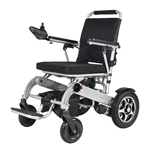 (Foldable Electric Wheelchair, Portable Lightweight Wheelchair, Longest Drive (Lithium ion Battery) Battery Charging, one-Button Folding for Easy Transportation only 20kg)