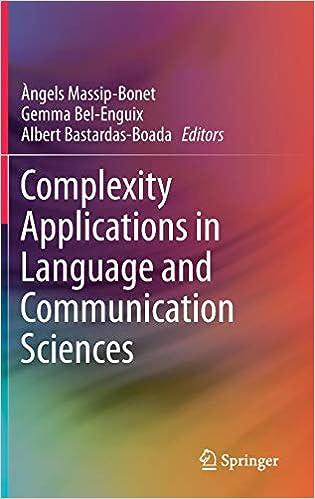Resultado de imagen de complexity applications in language and communication sciences