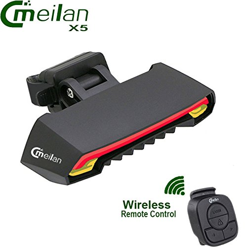Meilan X5 Wireless Bike Bicycle Rear tail Light lamp Smart USB Rechargeable Cycling Accessories Remote Turn led