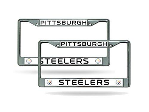 Rico Pittsburgh Steelers Chrome Metal (2) License Plate Frame Set