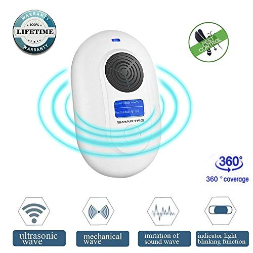 SMARTRO Ultrasonic Electromagnetic Pest Repeller - Electronic Pest Control Plug in - Ultrasonic Pest Repellent for Mosquitoes, Bugs, Insects, Mice, Rodents, Cockroaches