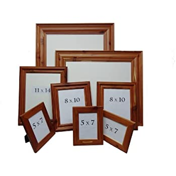 Amazon.com - Large Rustic Picture Frame Set - 7 frame Cedar Picture ...
