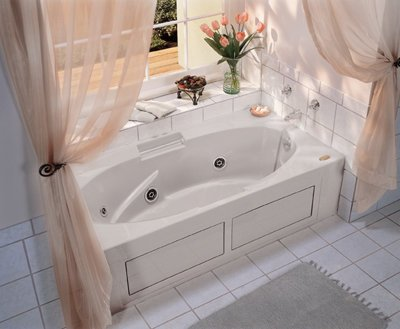 Jacuzzi NVS7236WLR2XXY 72-Inch x 36-Inch Nova Drop In Three Wall Alcove Comfort Whirlpool Bathtub with Basic Controls, Left Drain and Right Pump Jacuzzi Nova Bathtub Alcove