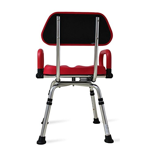 TSAR003 High-End Luxury 360 Degree Rotating Bathroom Chair With Backrest And Handrails, Comfortable Soft Seat, Adjustable Height, Waterproof Anti-Skid, 400 Pounds Load by TSAR003 (Image #2)