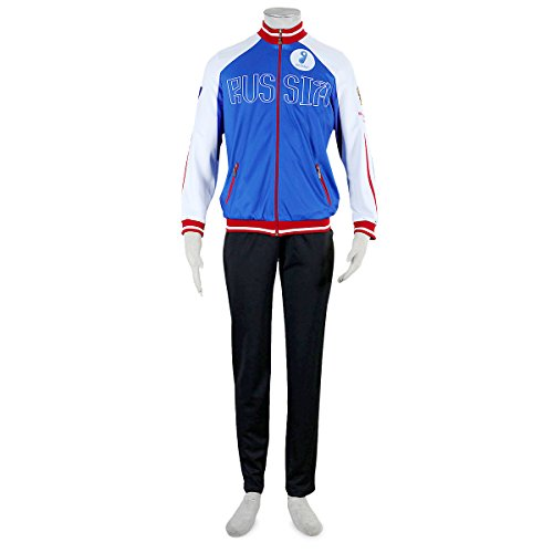 Another Me Yuri!!! on Ice Plisetsky Cool High School Uniform FullSet Sportswear Cosplay Costume Size (Cool Costumes For School)